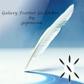 Galaxy feather  LOCK SCREEN