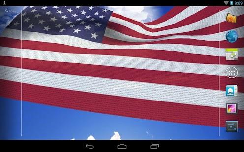 3D美國國旗動態壁紙免費下載