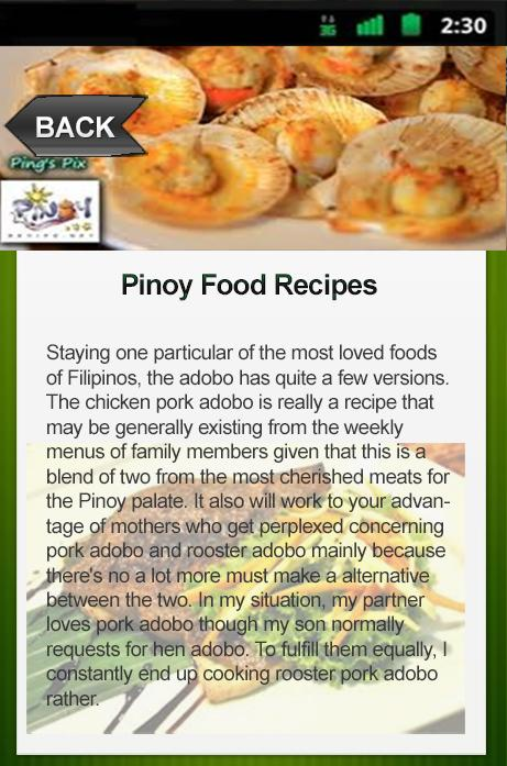 Pinoy food recipes android apps on google play pinoy food recipes screenshot forumfinder