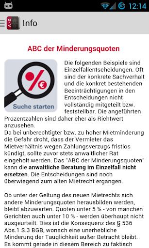 ABC der Mietminderungsquoten