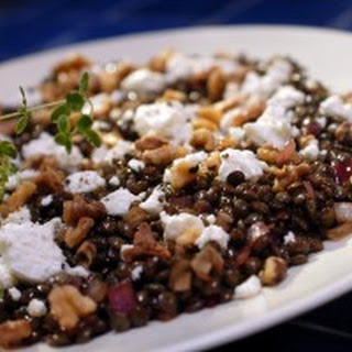 French Lentils with Walnuts and Goat Cheese Recipe