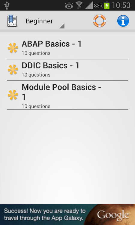 SAP ABAP Quiz – (Android Apps) — AppAgg