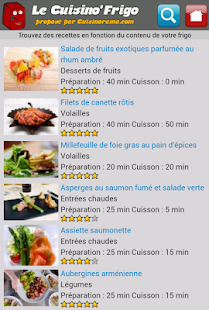 cuisino frigo recette applications sur google play. Black Bedroom Furniture Sets. Home Design Ideas