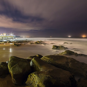 Mossy Rock by Marc Anderson - Landscapes Waterscapes ( umhlanga rocks, rocher photography, durban, south africa, marc anderson,  )