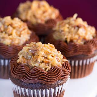 German Chocolate Cupcakes.