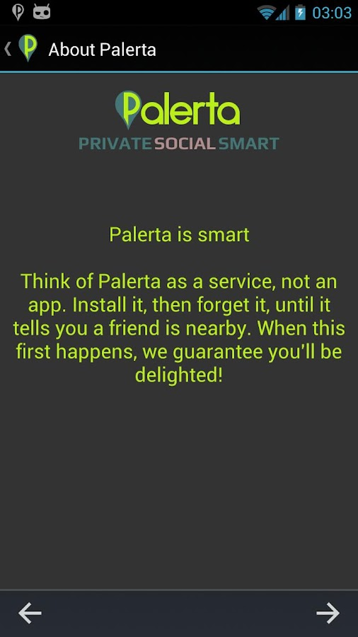 Palerta (beta)- screenshot