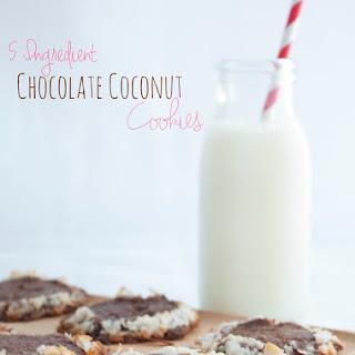 5 Ingredient Chocolate Coconut Slice and Bake Cookies