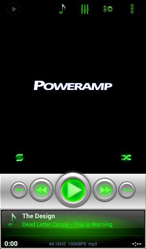Mad Jelly Green Poweramp Skin  screenshots 4