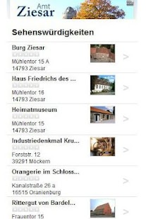 Cityguide Ziesar - screenshot thumbnail