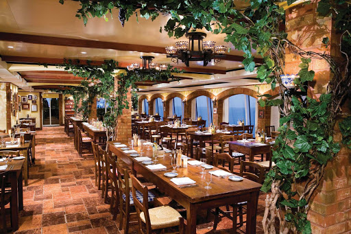 Norwegian-Gem-dining-LaCucina - La Cucina aboard Norwegian Gem features charming Italy-inspired interiors and authentic Italian dishes.