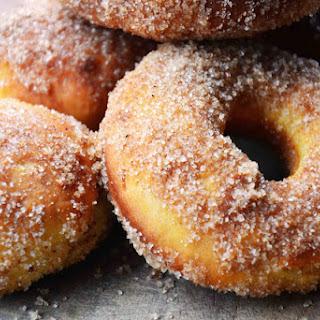 Cinnamon Sugar Coated Baked Doughnuts