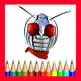 Coloring Books Kamen Rider