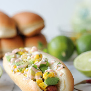 Mexican Hot Dogs with Chipotle Cream