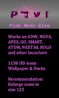 Screenshot of Pink Neon Glow Theme Icon pack