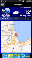 Screenshot of ABC7 Chicago Weather