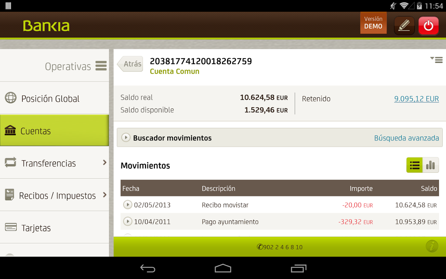 Bankia tablet android apps on google play for Bankia oficina internet movil