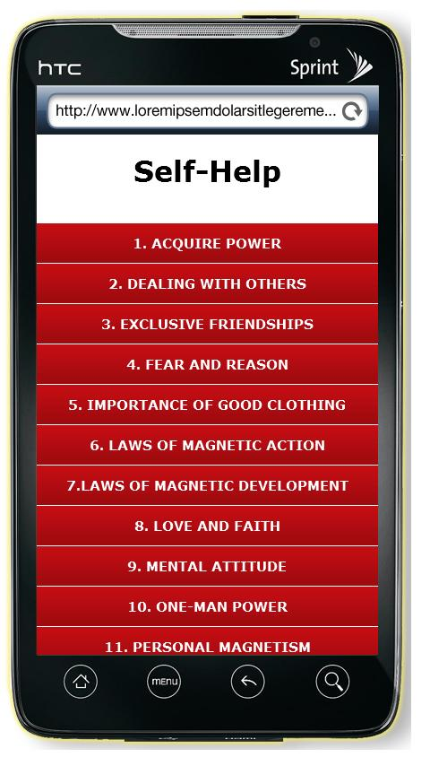 Self Help Book - screenshot