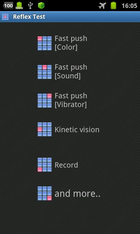 Reflex Test- screenshot
