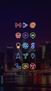 Neon Go Apex Nova Icon Theme