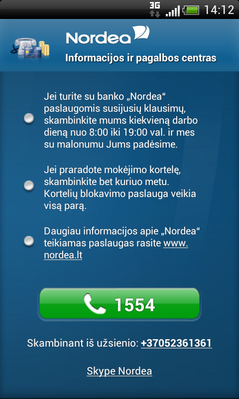 Nordea Lietuva- screenshot