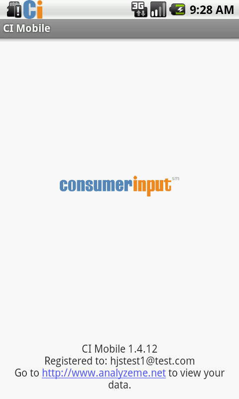 ConsumerInput Mobile - screenshot