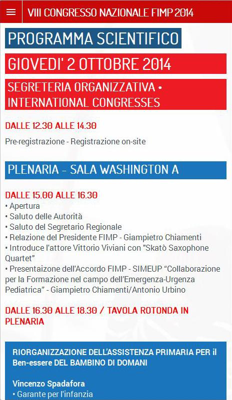 CONGRESSO FIMP 2014- screenshot