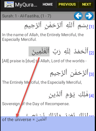 My Quran Study (Word for word)- screenshot