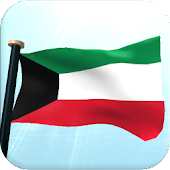 Kuwait Flag 3D Free Wallpaper