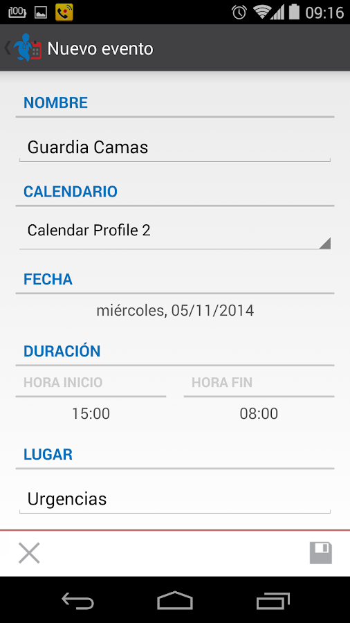 GuardMecum Turnos y guardias- screenshot