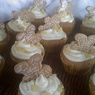 Drunken Gingerbread Men Cupcakes