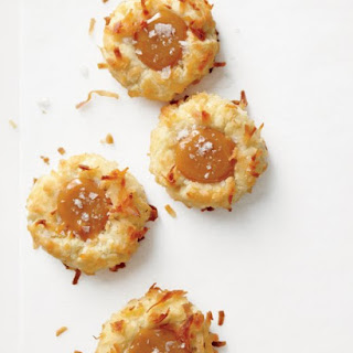 Coconut Thumbprint Cookies with Salted Caramel.