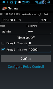 PLC 2 relay remote control net - screenshot thumbnail