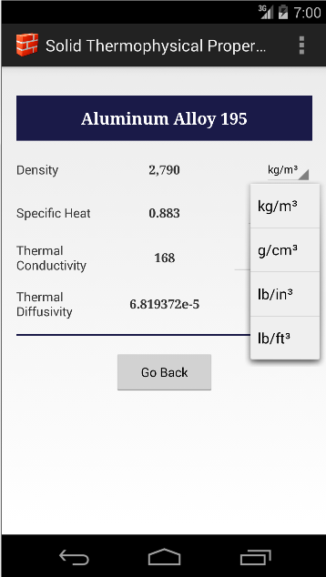 Thermal-Hydraulic Database- screenshot