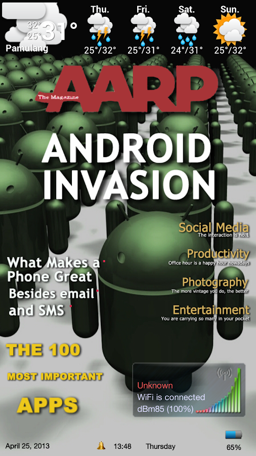 Magazine 1 Theme ssLauncher OR - screenshot