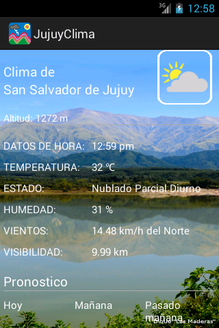 Weather of Jujuy Argentina