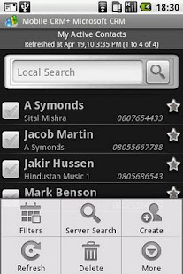 Contact Manager MS CRM - screenshot thumbnail