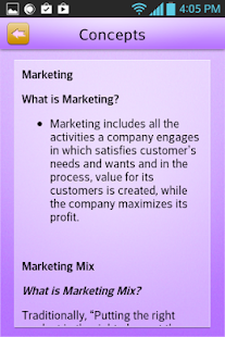 MBA Marketing Learn Review- screenshot thumbnail