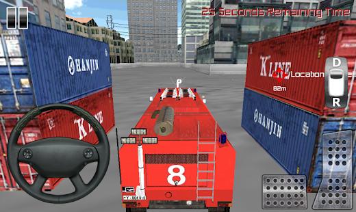 消防隊員卡車模擬3D