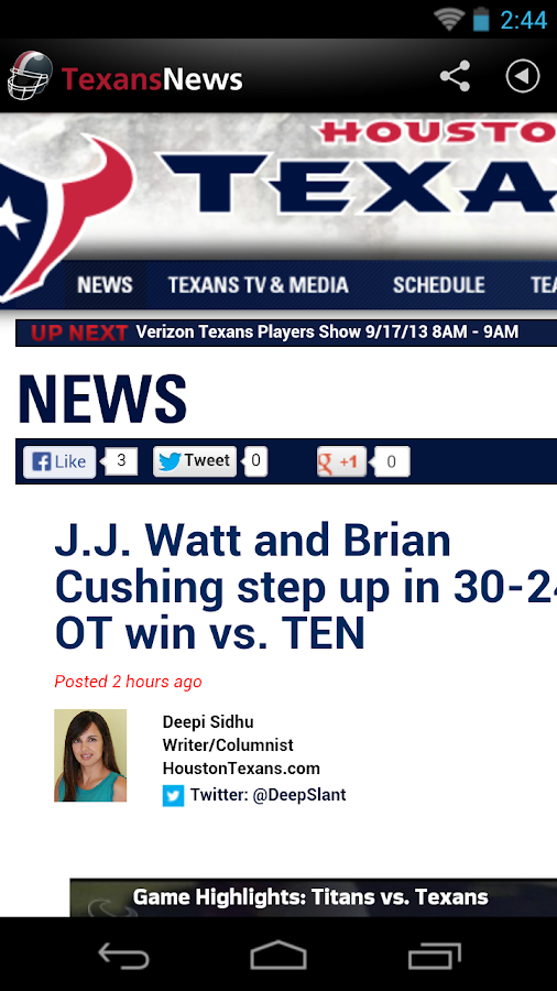 Texans News - screenshot