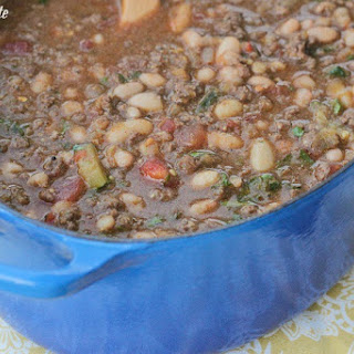 Salsa Verde Ranch Style Beef Chili