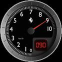 Battery Widget Ferrari 03 Free icon