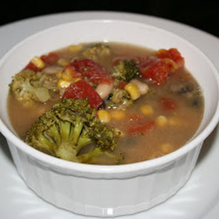 Clean-Out-The-Pantry Minestrone Soup CrockPot.