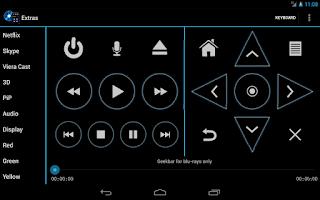 Screenshot of Panasonic Blu-ray Remote