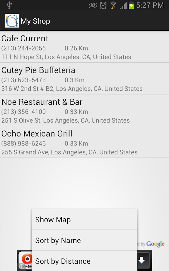 Restaurant Finder - screenshot