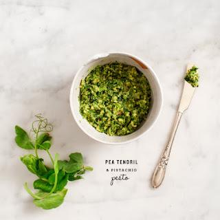 Pea Tendril & Pistachio Pesto