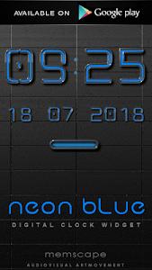 Poweramp skin Neon Blue v1.34