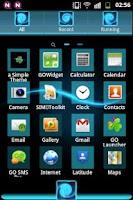 Screenshot of GO Theme Launcher EX Blue