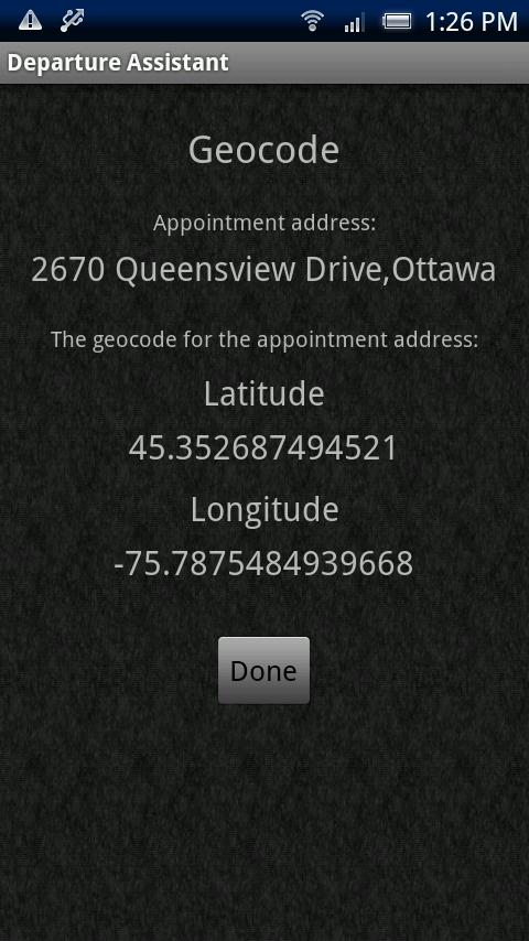 Departure Assistant - screenshot