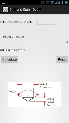 Machinist Drill Point Depth