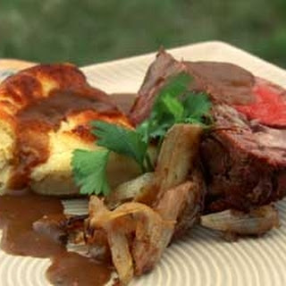 Roasted fillet of beef with Yorkshire pudding